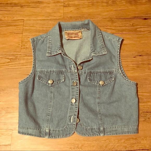 studio ease Jackets & Blazers - Cropped blue jean vest!